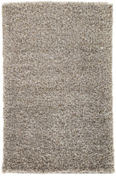 9' x 12' Area Rug Rectangle Silver Tan Nadia ND01 Machine Made Shag and flokati