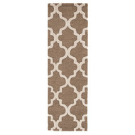 """2'6"""" x 8' Area Rug Runner Brown White City Miami CT20 Handmade Hand-Tufted Moroccan"""