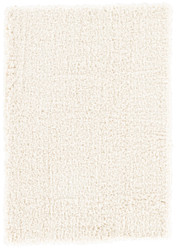 4' x 6' Area Rug Rectangle White Milano Forte MIO02 Handmade Hand-Tufted Shag