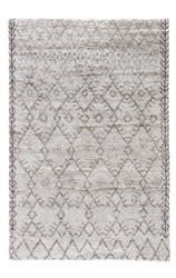 2' x 3' Area Rug Rectangle Ivory Brown Zuri Zola ZUI01 Handmade Hand-Knotted Moroccan
