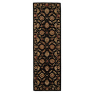 4' x 16' Area Rug Runner Black Red Mythos Callisto MY10 Handmade Hand-Tufted Traditional