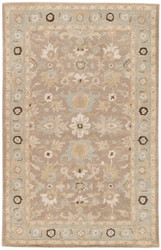 2' x 3' Area Rug Rectangle Gray Tan Poeme Abralin PM103 Handmade Hand-Tufted Traditional