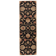 "2'6"" x 6' Area Rug Runner Black Tan Mythos Abers MY11 Handmade Hand-Tufted Traditional"