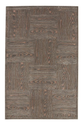 """7'6"""" x 9'6"""" Area Rug Rectangle Gray Fables Engrain FB68 Machine Made Power-Loomed"""
