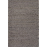 8' x 10' Area Rug Rectangle Gray White Naturals Ambary Wales AMB01 Handmade Dhurrie
