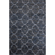 2' x 3' Area Rug Rectangle Dark Blue Tan Ithaca ITH03 Handmade Hand-Knotted Contemporary