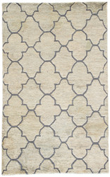 8' x 11' Area Rug Rectangle Blue Tan Ithaca ITH01 Handmade Hand-Knotted Contemporary