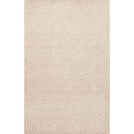 2' x 3' Area Rug Rectangle White Urban Town URB04 Handmade Hand-Loomed Modern
