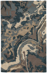 8' x 10' Area Rug Rectangle Gray Brown Blue Alabaster BL137 Handmade Hand-Tufted