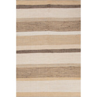 5' x 8' Area Rug Rectangle Brown White Andy Pueblo AND01 Handmade Flat-Woven Coastal