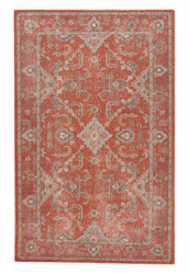 5' x 8' Area Rug Rectangle Red Gray Revolution Washington REL01 Handmade Hand-Knotted