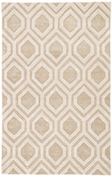 5' x 8' Area Rug Rectangle Beige Ivory City Hassan CT91 Handmade Hand-Tufted Moroccan