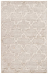 5' x 8' Area Rug Rectangle Beige City Canton CT83 Handmade Hand-Tufted Moroccan