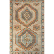 2' x 3' Area Rug Rectangle Beige Orange Preston Jameson PRS05 Handmade Hand-Tufted