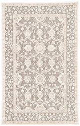 "5' x 7'6"" Area Rug Rectangle Gray Beige Fables Tyler FB137 Machine Made Power-Loomed"