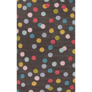 2' x 3' Area Rug Rectangle Multicolor Playful By Petit Collage Confetti PBP02 Handmade