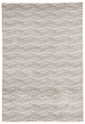 "5'3"" x 7'6"" Area Rug Rectangle Gray White Jada Berlin JAD01 Machine Made Power-Loomed"