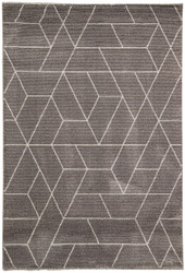 "5'3"" x 7'6"" Area Rug Rectangle Gray White Jada Titan JAD06 Machine Made Power-Loomed"