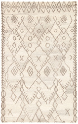 5' x 8' Area Rug Rectangle Cream Brown Safi Majorelle SAF02 Handmade Hand-Tufted