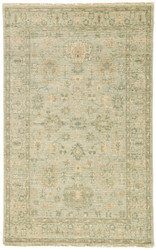 2' x 3' Area Rug Rectangle Beige Green Bennett Massimo BNT01 Handmade Hand-Knotted