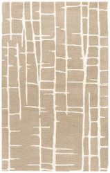 5' x 8' Area Rug Rectangle Taupe Silver Hollis Seychelles HOL11 Handmade Hand-Tufted
