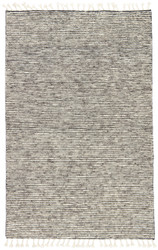 5' x 8' Area Rug Rectangle White Gray Alpine ALP02 Handmade Hand-Knotted Contemporary