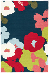"""7'6"""" x 9'6"""" Area Rug Rectangle Navy Red Colours Wallflower CO26 Handmade Hand-Tufted"""