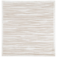 6' x Area Rug Square White Fables Linea FB53 Machine Made Power-Loomed Contemporary