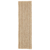 "2'6"" x 9' Area Rug Runner Beige White Naturals Lucia Marvy NAL01 Handmade Hand-Woven"