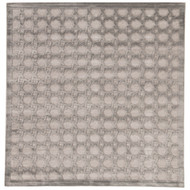 8' x Area Rug Square Gray Silver Fables Trella FB46 Machine Made Power-Loomed