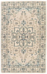 5' x 8' Area Rug Rectangle Light Gray Indigo Poeme Durango PM149 Handmade Hand-Tufted