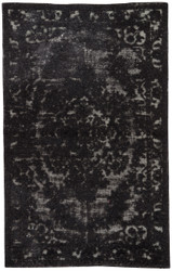 2' x 3' Area Rug Rectangle Black Eclipse Gala ECL01 Handmade Hand-Knotted Transitional