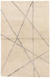 2' x 3' Area Rug Rectangle Beige Silver Hollis Navonna HOL14 Handmade Hand-Tufted