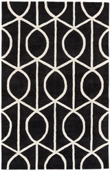 8' x 11' Area Rug Rectangle Black White City Seattle CT96 Handmade Hand-Tufted