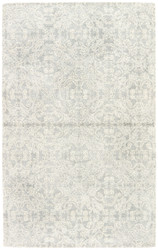 9' x 13' Area Rug Rectangle Ivory Gray Ashland Select Spada ASE04 Handmade Hand-Tufted