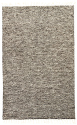 8' x 11' Area Rug Rectangle Gray White Alpine ALP01 Handmade Hand-Knotted Contemporary