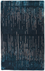 9' x 13' Area Rug Rectangle Blue Taupe Cascade Messina CAS14 Handmade Hand-Tufted