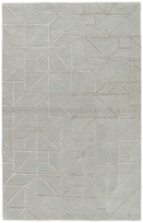 2' x 3' Area Rug Rectangle Gray Silver City Lafayette CT97 Handmade Hand-Tufted