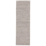 "2'6"" x 8' Area Rug Runner Gray Taupe Elements EL06 Handmade Hand-Loomed Contemporary"