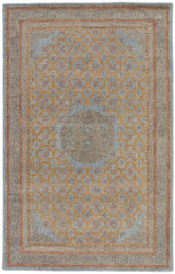 2' x 3' Area Rug Rectangle Blue Tan Kilan Carrara KIL09 Handmade Hand-Tufted Traditional