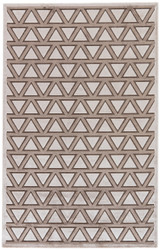 """7'6"""" x 9'6"""" Area Rug Rectangle Brown Beige Fables Crosscut FB146 Machine Made"""
