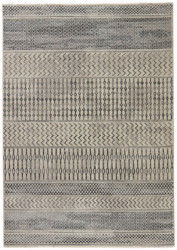 """5'3"""" x 7'6"""" Area Rug Rectangle Beige Gray Dash Zeal DSH07 Machine Made Power-Loomed"""
