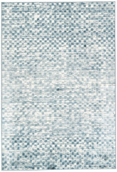 """5'3"""" x 7'6"""" Area Rug Rectangle Blue White Greyson Butterscotch GRY08 Machine Made"""