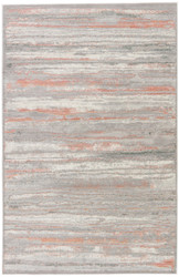 """7'8"""" x 10' Area Rug Rectangle Silver Gray Ceres Zariel CER12 Machine Made Power-Loomed"""