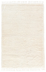 2' x 3' Area Rug Rectangle White Tala TAL02 Handmade Hand-Knotted Contemporary Modern