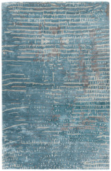 8' x 10' Area Rug Rectangle Blue Gray Transcend Layloe TRD02 Handmade Hand-Tufted