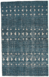 8' x 11' Area Rug Rectangle Teal White Reign Abelle REI02 Handmade Hand-Knotted