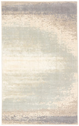 "7'10"" x 9'10"" Area Rug Rectangle Gray Cream Sullivan Rumi SUL02 Machine Made"