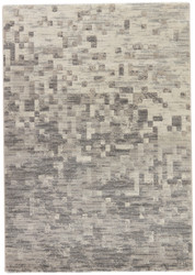 """7'10"""" x 10'10"""" Area Rug Rectangle Gray Dash Finch DSH01 Machine Made Power-Loomed"""