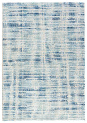 """7'10"""" x 10'10"""" Area Rug Rectangle Blue White Dash Escape DSH11 Machine Made Power-Loomed"""